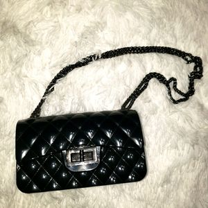 Black jelly purse